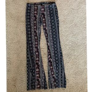 BOHO FLARE FITTED PANTS